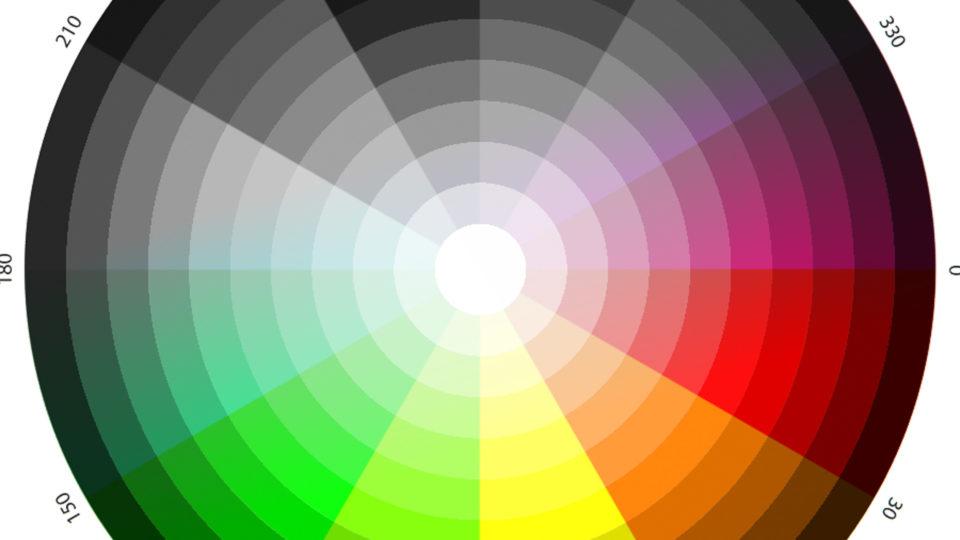 Farbkreis mit Übergang zu schwarzweiß