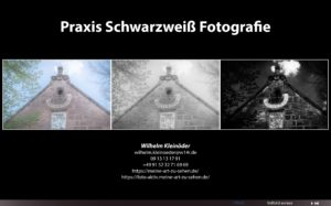 Script zum Kurs 'Praxis schwarzweiß Fotografie'